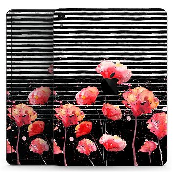 """Karamfila Watercolo Poppies V7 - Full Body Skin Decal for the Apple iPad Pro 12.9"""", 11"""", 10.5"""", 9.7"""", Air or Mini (All Models Available)"""