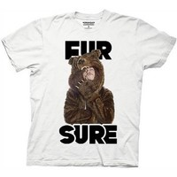 Workaholics Fur Sure Blake Sunglasses Bear Coat T-Shirt - Medium