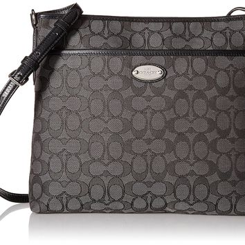 Coach Signature File Bag - Black Smoke/Black