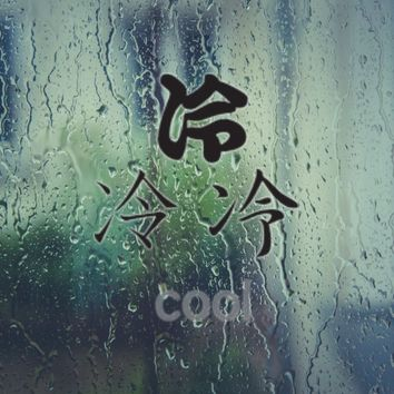 Cool Kanji Symbol Style #1 Vinyl Decal - Outdoor (Permanent)