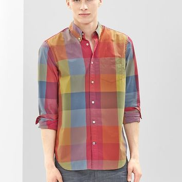 Gap Men Lived In Wash Oversized Checkered Shirt