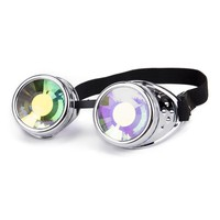 FLORATA 2018 NEW Arival Kaleidoscope Colorful Glasses Rave Festival Party EDM Sunglasses Diffracted Lens Steampunk Goggles