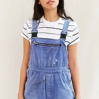 Urban Renewal Recycled French Workwear Shortall Romper- Blue