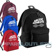 arctic monkeys soundwave backpack bag swag dope hipster alex turner fashion trend school travel pe sports bag p.e rucksack film album tour