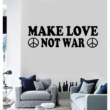 Vinyl Wall Decal Hippie Quote Peace Pacifism Stickers Mural Unique Gift (ig3871)