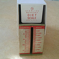 Vintage Sterling Diet Scale antique scale retro green and orange scale 1960s diet scale