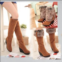 Boots For Women  3 in 1  Wedges High Heels  ~ Half Boots Winter ~ Ankle Boots