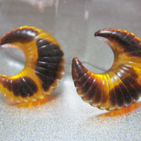 Estate Faux Tortoiseshell Lucite Pierced Earrings * Stud Earrings * Jewelry * Jewellery