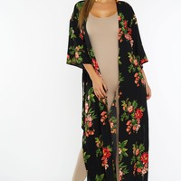 Faye Floral Duster