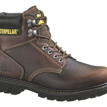 Cat® P72365-8.5M Caterpillar® Men's Second Shift Work Boot, Tan, Medium, Size-8.5