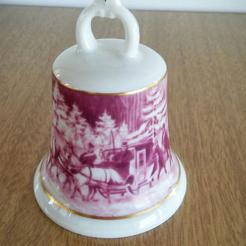 AK Kaiser W. Germany Porcelain Sleigh Bell Collectible