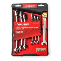 Husky SAE Combo Ratcheting Wrench Set (7-Piece) HRW7PCSAEP at The Home Depot - Mobile