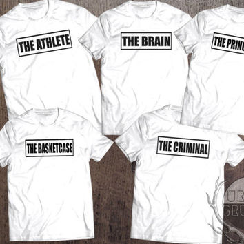 the breakfast club tshirt- the athlete the criminal the princess the brain the basketcase-the breakfast club-funny tshirt-tumblr tshirt-tbc