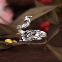 925 Sterling Silver Peacock Ring