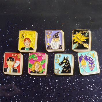 Tiny Magic book Brooches Pins Alice in Wonderland,The Catcher in the Rye,Anne of Green Gables Pin Buckle Jewelry For Kids Gifts