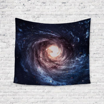 Swirly Galaxy Space Stars Trendy Boho Wall Art Home Decor Unique Dorm Room Wall Tapestry Artwork