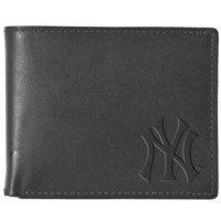 Black Leather Wallet - New York Yankees