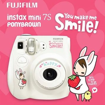 Fujifilm Instax Mini 7S Pony Brown Instant Film Camera