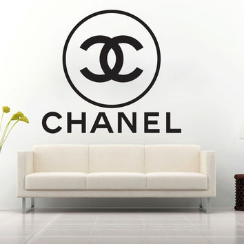 chanel wall decal from ztr graphicz coco