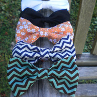 SMALL hair bows solids & patterns