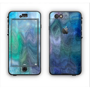 The Vivid Blue Sagging Painted Surface Apple iPhone 6 LifeProof Nuud Case Skin Set