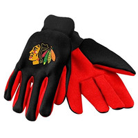 Chicago Blackhawks Forever Collectibles Sports Utility Gloves - 1 Pair