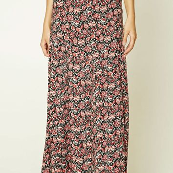 Contemporary Rose Print Skirt