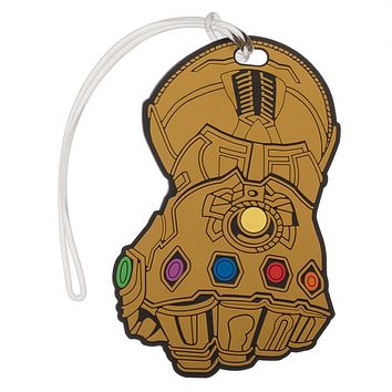 Marvel Thanos Infinity Gauntlet Rubber Luggage Tag