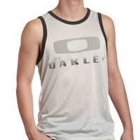 Oakley Men's O Jersey Tank Top, Crystal Gray, XX-Large