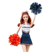 Auburn barbie doll cheerleader