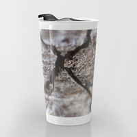 Travel Mug Ceramic - Wood Photo Coffee Travel Mug - Hot or Cold Travel Mug - 12oz Travel Mug -Made to Order