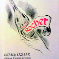 Vintage French Ad - Cherry Rocher 1951