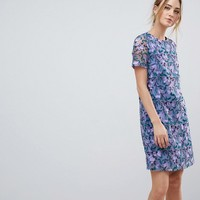 Dolly & Delicious Tall Allover Embroidered Aline Shift Dress at asos.com
