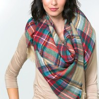 Plaid Blanket Scarf - 6 Patterns!