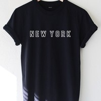 New York T-shirt - Black