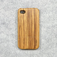 Wood iPhone 4 Case  Zebra Wood Handmade iPhone Case by tmbrwood