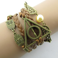 Hand-woven harry potter deathly hallows wings vintage accessories