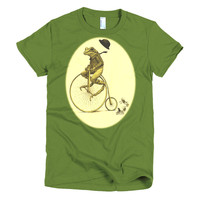 Frog on Bike Short sleeve women's t-shirt