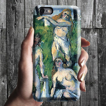 Bathers - Paul Cezanne iPhone Case 6, 6S, 6 Plus, 4S, 5S. Mobile Phone Cell. Art Painting. Gift Idea Anniversary. Gift for him and her