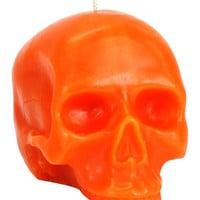 D.L.&Co Large Skull Candle - Orange