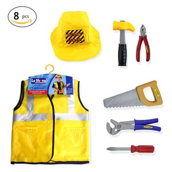 New Construction Worker Costume Role Play Kit Set ping