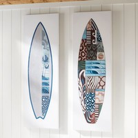 Guys Surfboard Canvas Art