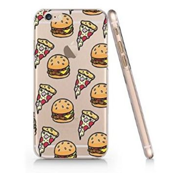 Pizza Hamburger Fast Food Slim Pattern Iphone 6 Case, Clear Iphone 6 Hard Cover Case (For Apple Iphone 6 4.7 Inch Screen)-Emerishop (AH947)