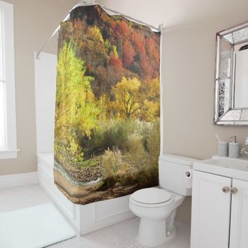 Autumn Fall Colors Zion NP USA Shower Curtain