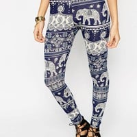 ASOS Leggings In Bandana Elephant Print