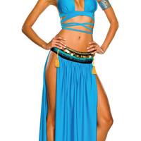 Blue Belly Dancer Costume Set