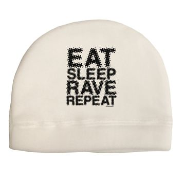 Eat Sleep Rave Repeat Child Fleece Beanie Cap Hat by TooLoud