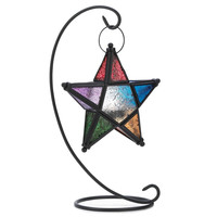 Colorful Star Lantern W/Stand