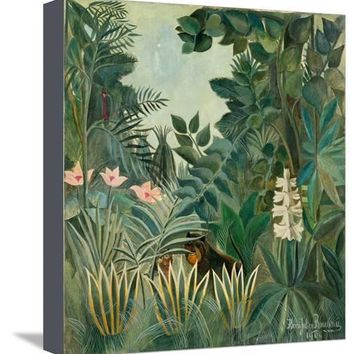 The Equatorial Jungle, 1909 Giclee Print by Henri Rousseau at Art.com
