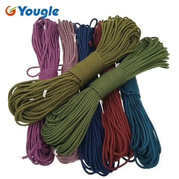 YOUGLE 550 Paracord Parachute Cord Lanyard Rope Mil Spec Type III 7Strand 100FT Climbing Camping survival equipment  193-199
